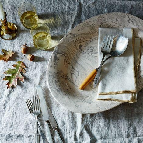 Ebru Ceramic Platter