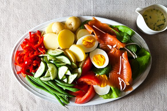 Not-Quite Niçoise with Lime-Chive Cream
