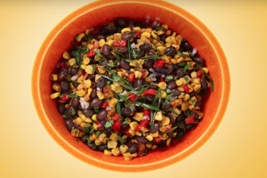 Spicy Roasted Corn & Black Bean Salad