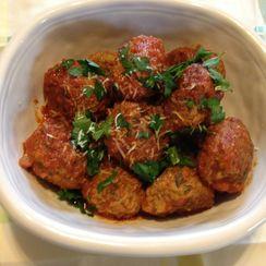 Mom's Meatballs and Tomato Sauce