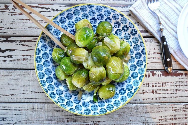 Roasted Bruxel Sprout with a drizzle of orange juice and no sulphur taste
