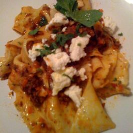 Blood Orange Lamb Ragu w/ Mint Papparadelle & French Feta