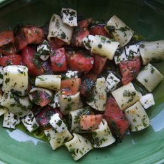 The Canal House's Mezzi Rigatoni with Tomatoes, Lots of Herbs, Hot Oil, and Mozzarella