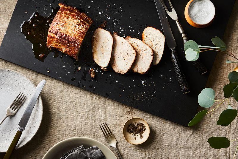 Garrelts recommends the Smithfield Prime Boneless Fresh Pork Loin for its freshness and its flavor.