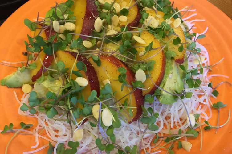 Lime Rice Noodles with Avocado & Nectarine