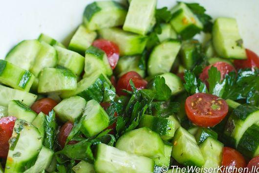Herbed Cucumber Tomato Salad