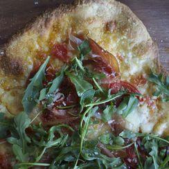 Speck + Arugula Pizza