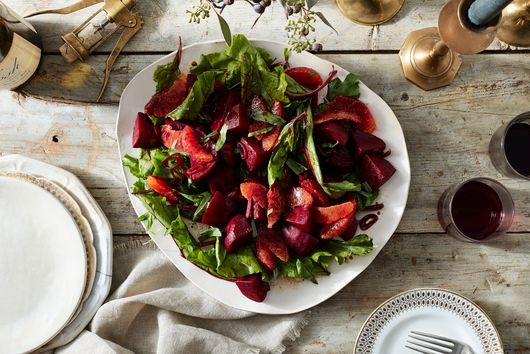 Parchment Candied Beets & Greens with Blood Orange & Balsamic