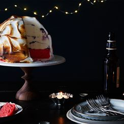 Flag Cake Meets Baked Alaska (Can Be Made in Flip Flops)