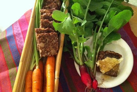 Radish-carrot date nut bread
