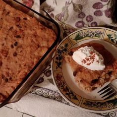 Buttermilk & Brown Sugar Apple Pudding