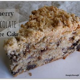 Cherry Chocolate Coffee Cake