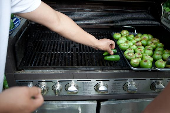 Grilling Chiles