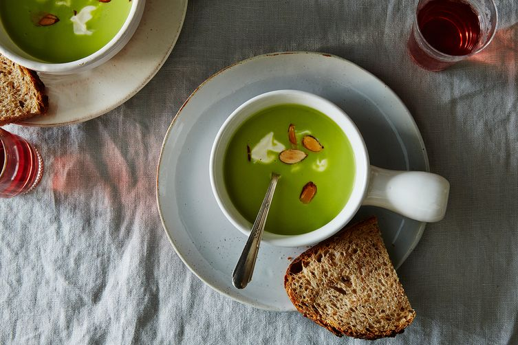 Annie Wayte's Chilled Asparagus and Almond Soup