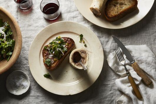 Roasted Marrow Bones with Parsley Salad & Toast