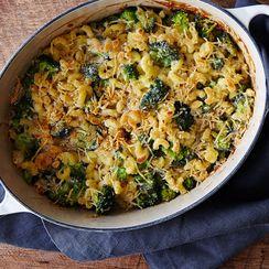 Macaroni-and-Cheese (& Broccoli) Casserole