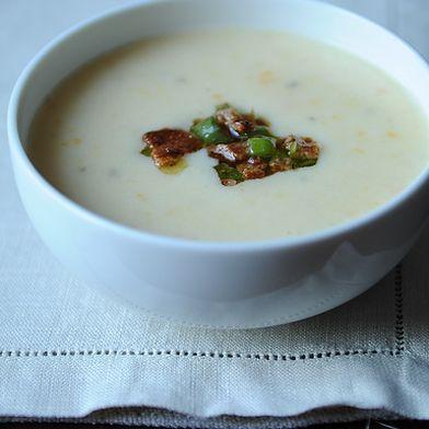 Creamy Potato Soup with Bacon Vinaigrette