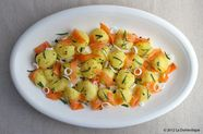 Tarragon Potato Salad with Cured Salmon and Lemon Vinaigrette