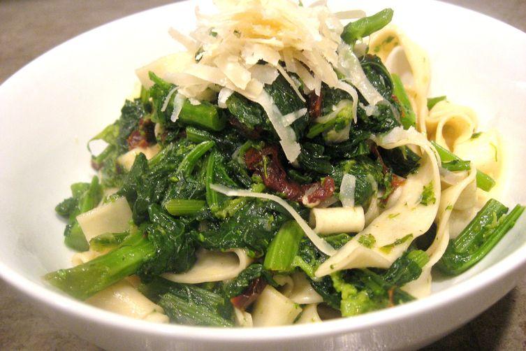 Broccoli Rabe with Sundried Tomato and Fresh Tagliatelle ...