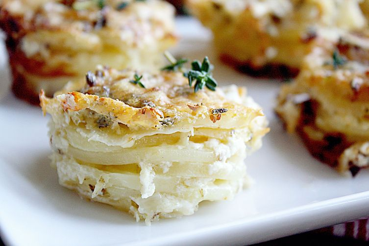 Parmesan Scalloped Potato Stacks