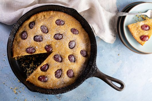 Polenta Cake With Red Grapes From Ellie Krieger