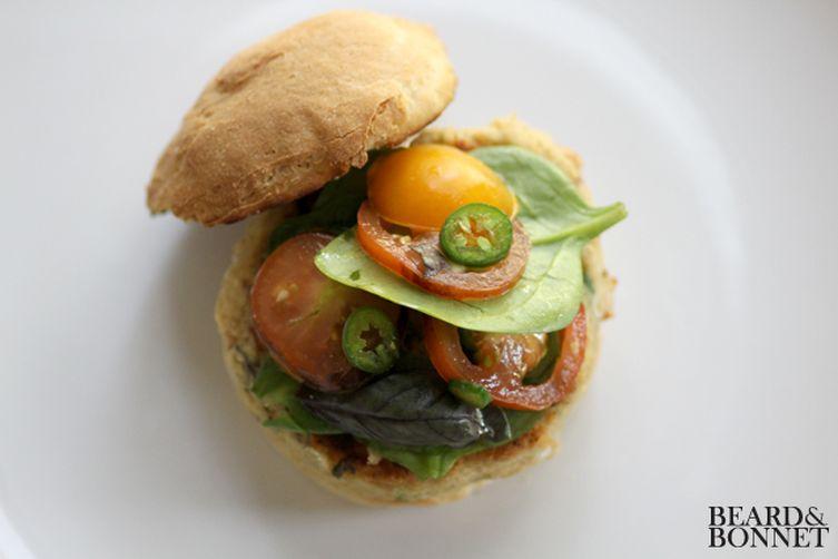 Savory White Bean Burger (gluten-free)