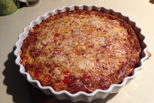 Crustless Quiche with Peppers and Onions