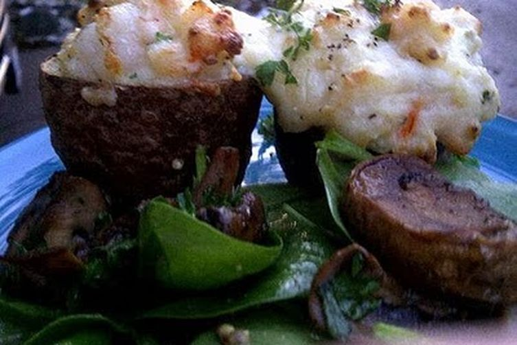 Twice Baked Potatoes with Lobster and Shrimp