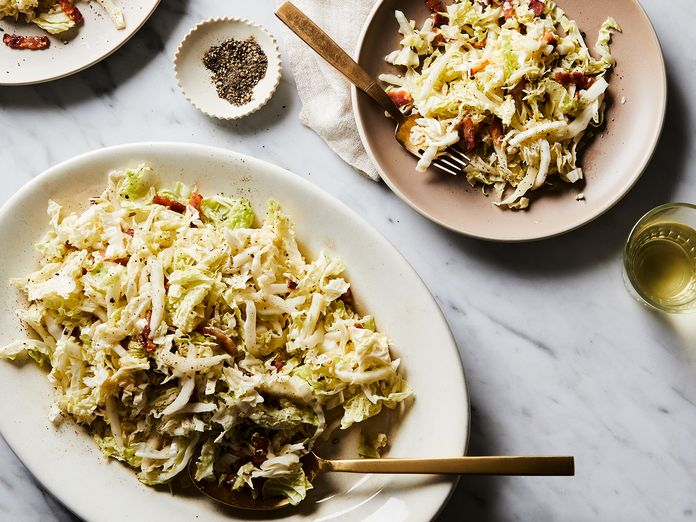 Pour Hot, Smoky Bacon Dressing Over Cabbage and See What It Can Do