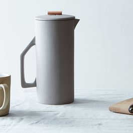 An Absurdly Cute Ceramic French Press That Actually Keeps Your Coffee Hot