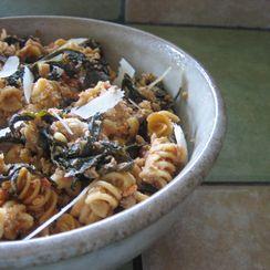 Whole Wheat Rigatoni with Lamb and Tuscan Kale Ragú