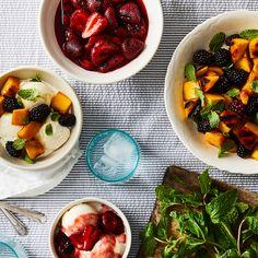Grilled Strawberries Romanoff