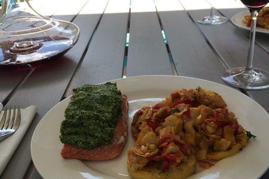 Salmon w/ Ramp Pesto