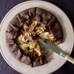 Chocolate apple galette