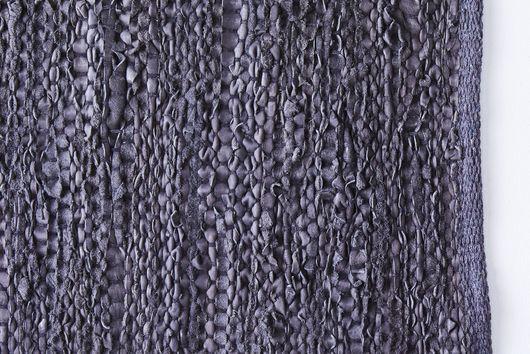 Modern Upcycled Leather Rag Rug