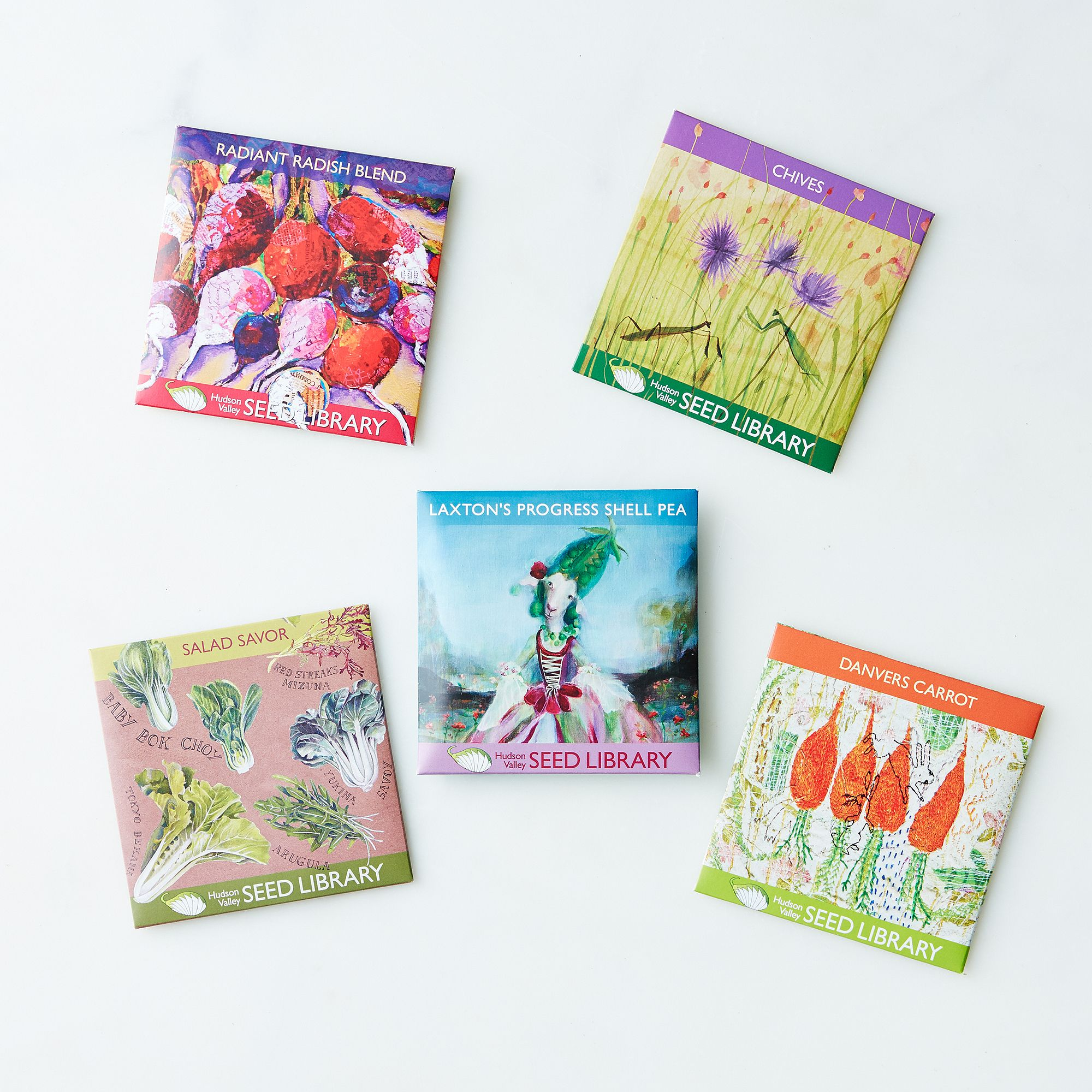 heirloom seed art packets spring collection on food52