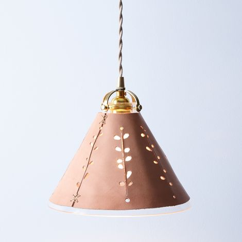 Leather Shade Pendant Lamp