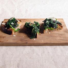 Marinated Greens on Toast