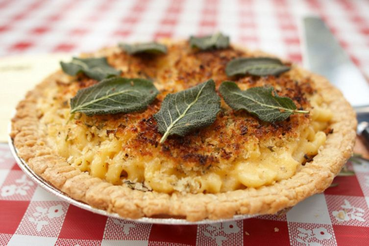 Stuffed Macaroni and Cheese Pie with Herbed Topping Recipe on Food52