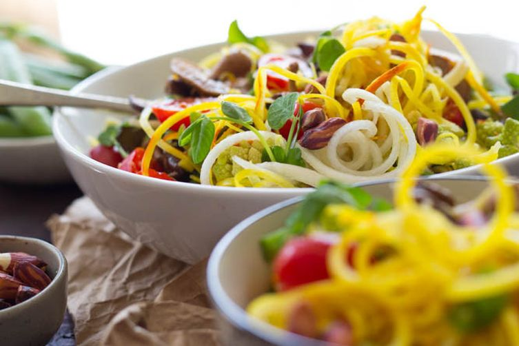 Spicy Beet Noodle Salad