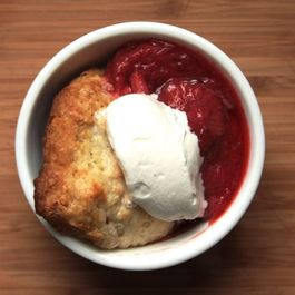 Hella Bitter's Strawberry-Rhubarb Compote w/Whipped Cream