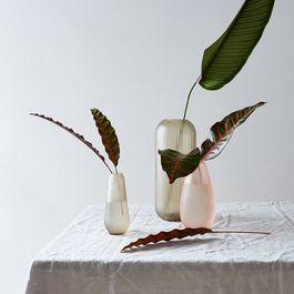 Food52 x Hawkins New York Hand-Cut Textured Glass Vases