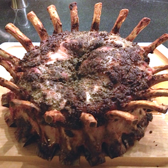 Crown Roast of Pork with Fennel, Lemon and Garlic