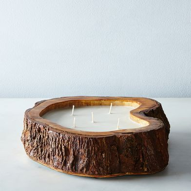 Natural Tree Trunk Candle