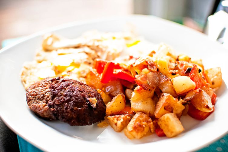 Sweet Red Pepper & Potato Hash