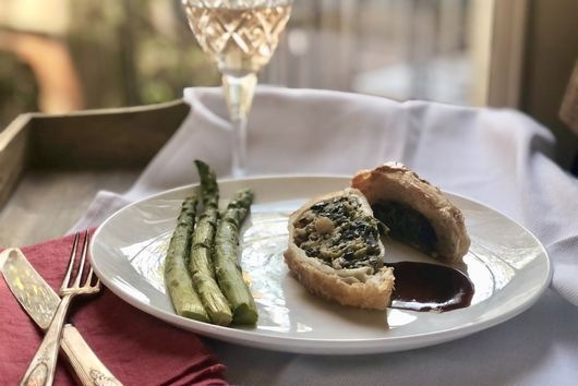 Mushroom Wellington with Port Wine Reduction