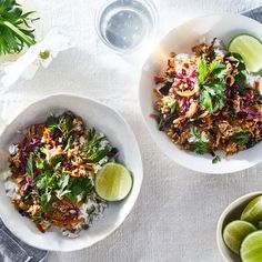 Spicy Pork Larb With Vegetables & Herbs
