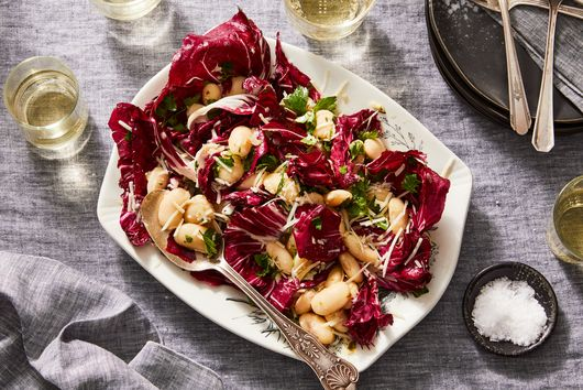 Marinated White Bean & Radicchio Salad