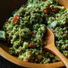 4fb1af71 88cd 4b47 b6b4 fd4029de60bb  farro mozz and arugala pesto