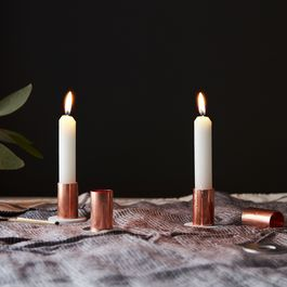 DIY Metallic Candlesticks That'll Only Run You $1 Each
